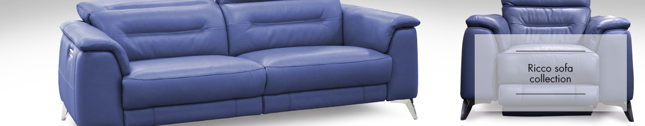 Ricco leather sofa Collection at Forrest Furnishing