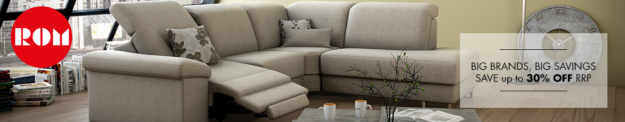 ROM Sofa Collection at Forrest - Save up to 30%% off rrp.