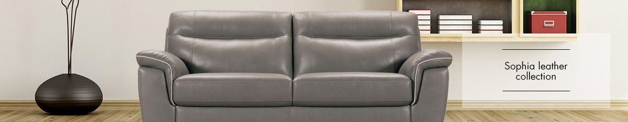 Sophia leather sofa collection by Violino at Forrest Furnishing