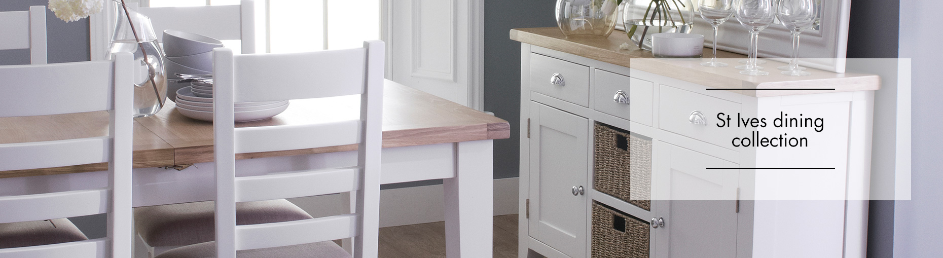 St Ives white painted dining collection at Forrest Furnishing