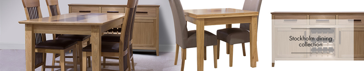 Stockholm oak and Walnut Dining Collection at Forrest Furnishing