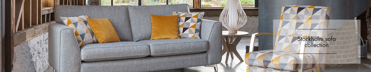 Stockholm Fabric Sofa collection by Alstons Upholstery at Forrest Furnishing