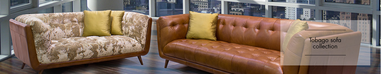 Tobago leather and fabric sofa collection