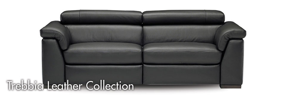 Trebbia leather sofa collection