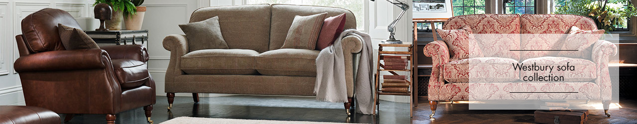 Westbury fabric sofa collection by parker Knoll