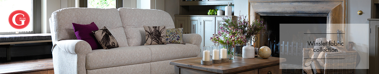 Winslet Fabric Sofa Collection by G Plan Upholstery at Forrest Furnishing