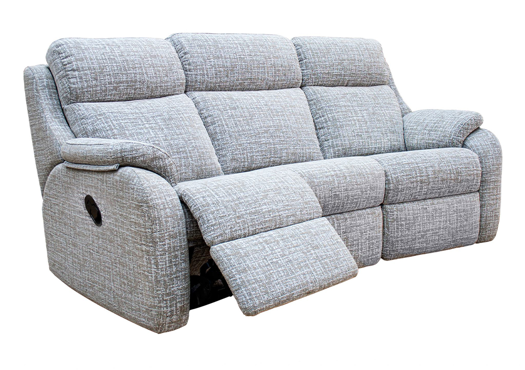 Kingsbury 3 Seat Curved Manual Sofa Fabric