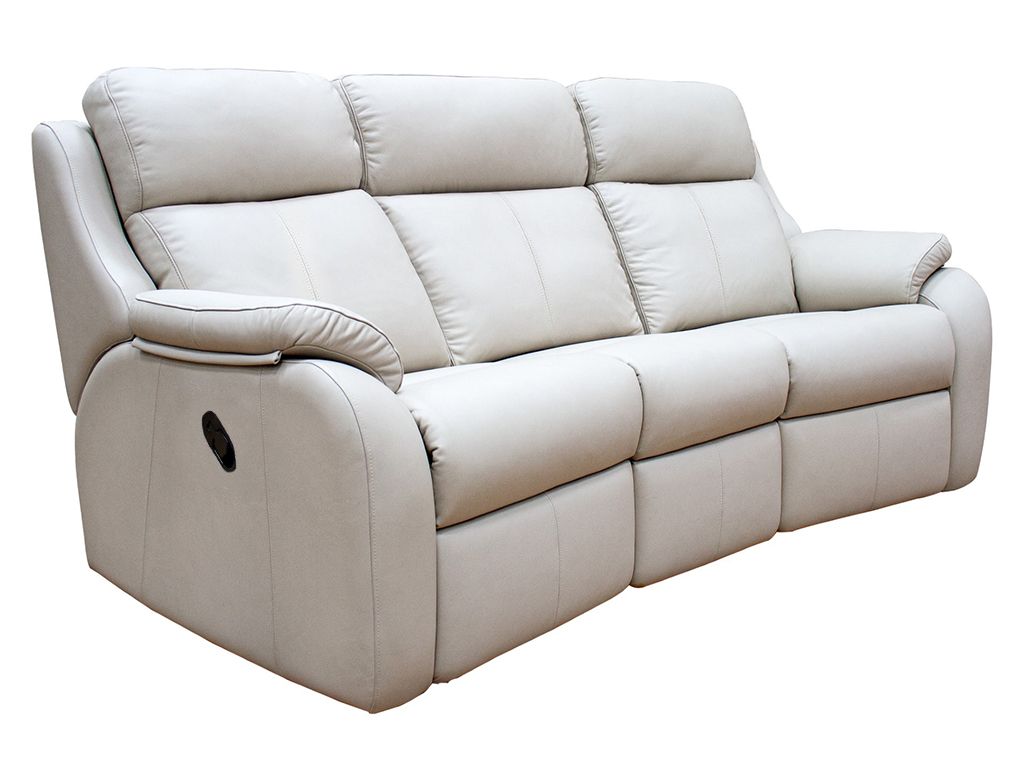 Kingsbury 3 Seat Curved Manual Sofa Leather