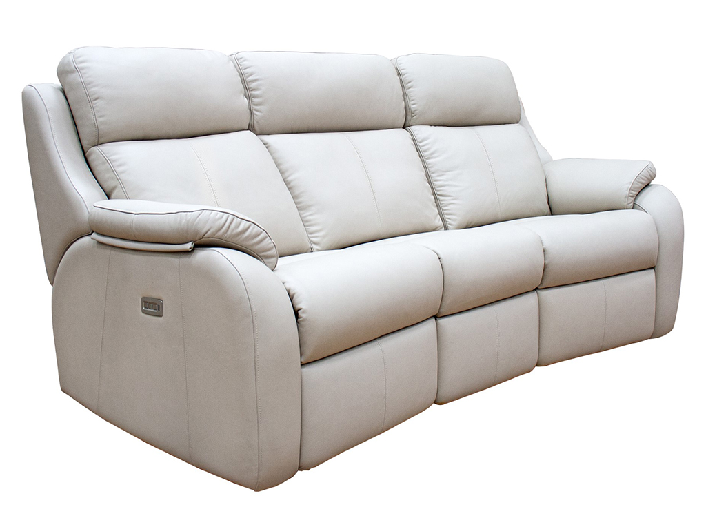 Kingsbury 3 Seat Curved Electric Sofa Leather