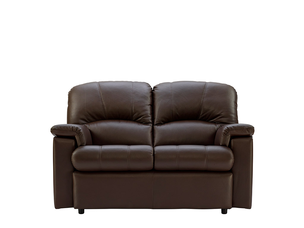 Chloe Leather 2 Seat Fixed Sofa
