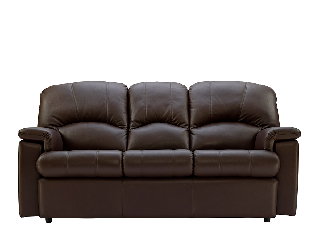Chloe Leather 3 Seat Fixed Sofa