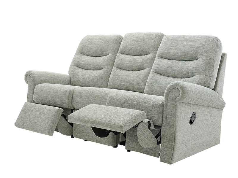 Holmes 3 Seat RHF Manual Recliner Sofa