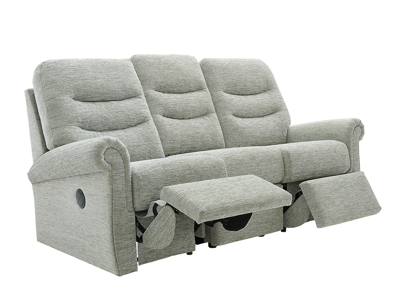 Holmes 3 Seat LHF Power Recliner Sofa