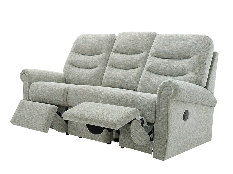 Holmes 3 Seat RHF Power Recliner Sofa