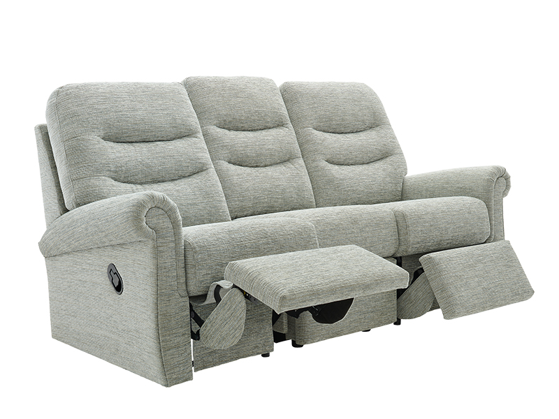 Holmes 3 Seat LHF Manual Recliner Sofa