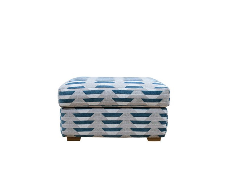 Seattle Footstool with Wood Feet