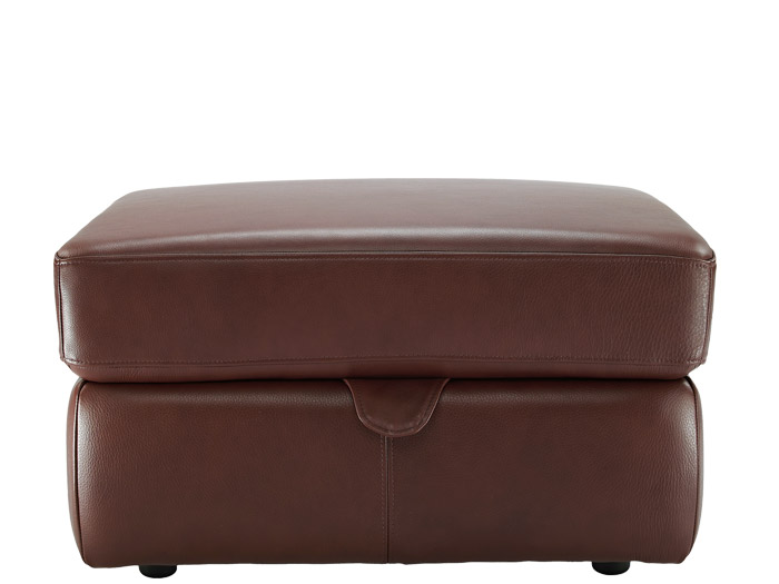 Washington Leather Storage Footstool