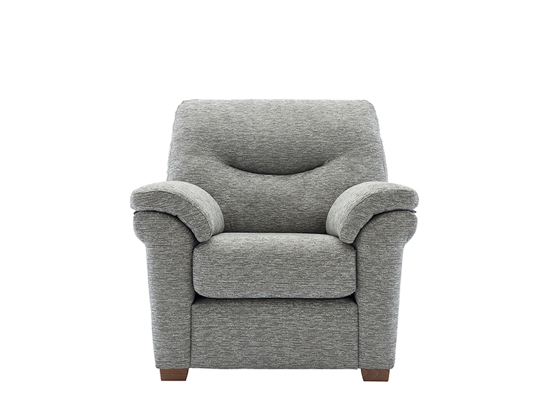 Washington Fabric Armchair with Wooden Feet