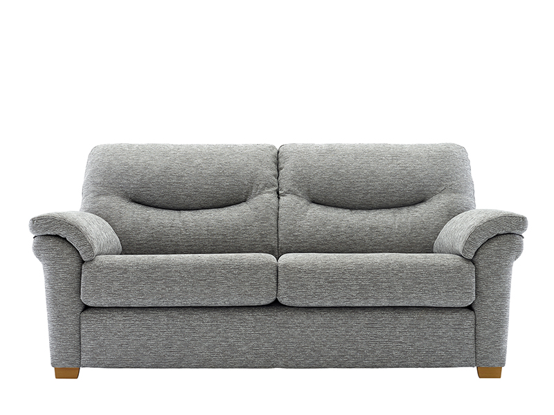 Washington 3 Seat Fabric Sofa with Wooden Feet