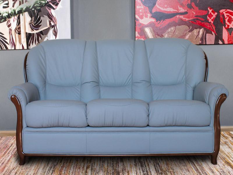 Garda 3 Seat Leather Sofa