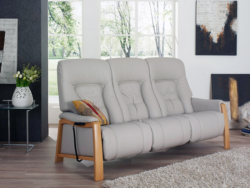 Themse 3 Seat Electric Recliner Sofa with Wood Arms