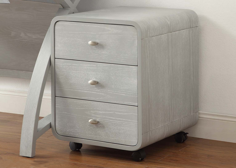 Lucena 3 Drawer Pedestal in Grey