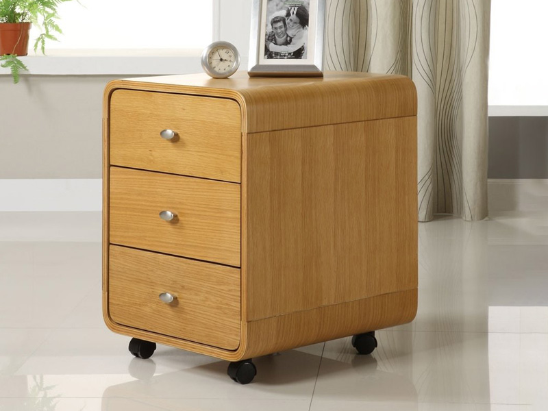 Lucena 3 Drawer Pedestal in Oak