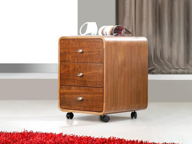 Lucena 3 Drawer Pedestal in Walnut
