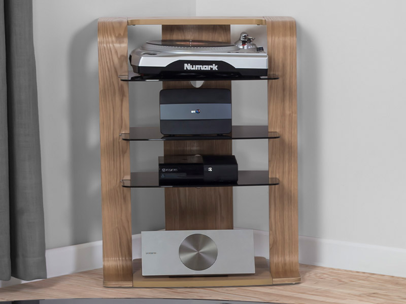 Andorra Hi-Fi Stand in Oak