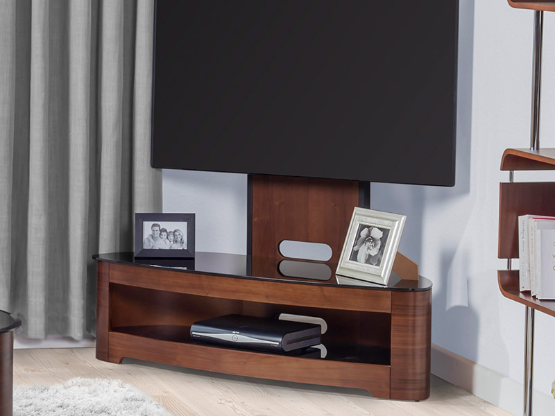 Andorra Cantilever TV Stand in Walnut