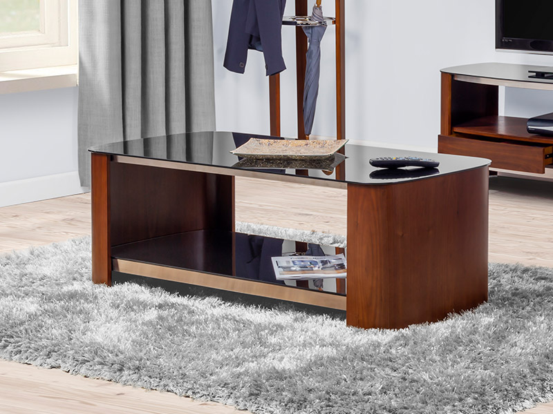 Contour 311 Coffee Table in Chrome and Walnut