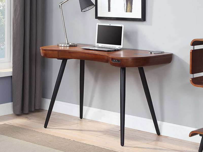Alcudia Smart Speaker Charging Desk in Walnut