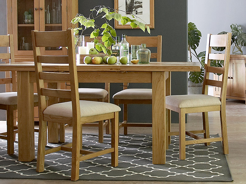 Ashbourne Large Oak Dining Table and 6 Chairs