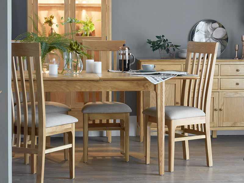 Oslo 160cm Extending Dining Table and 4 Chairs