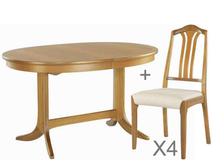 Classic Oval Dining Table and 4 Chairs