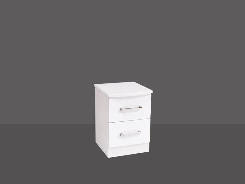 Miami 2 Drawer Bedside Chest