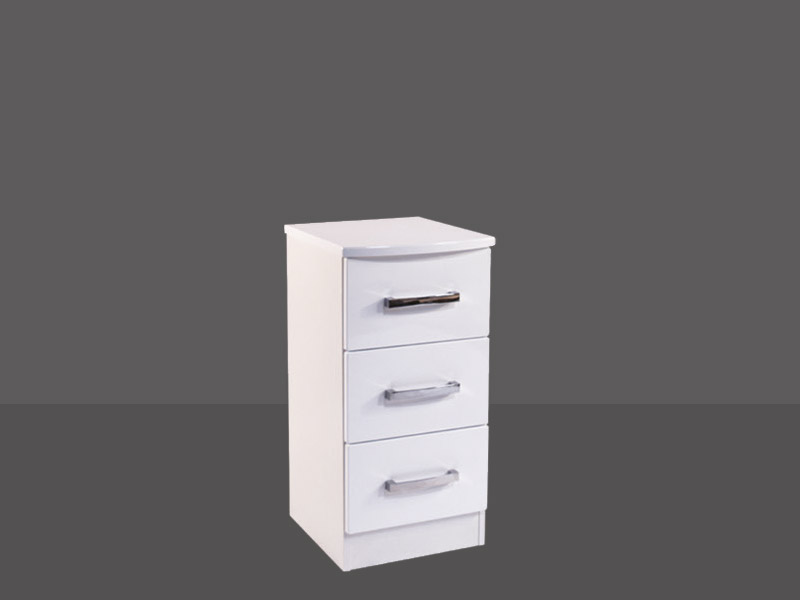 Miami 3 Drawer Bedside Chest