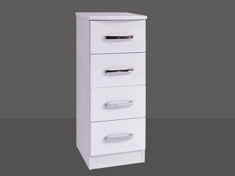 Miami 4 Drawer Bedside Chest