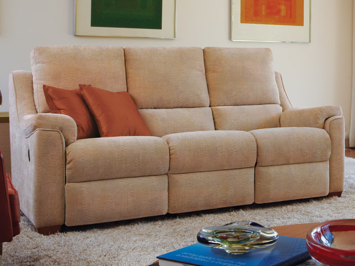 Albany 3 Seat Double Manual Reclining Fabric Sofa