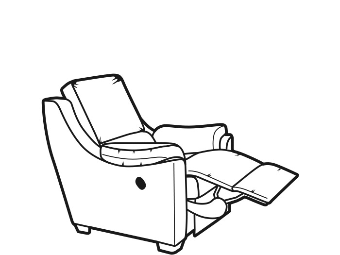 Albany Fabric Manual Recliner