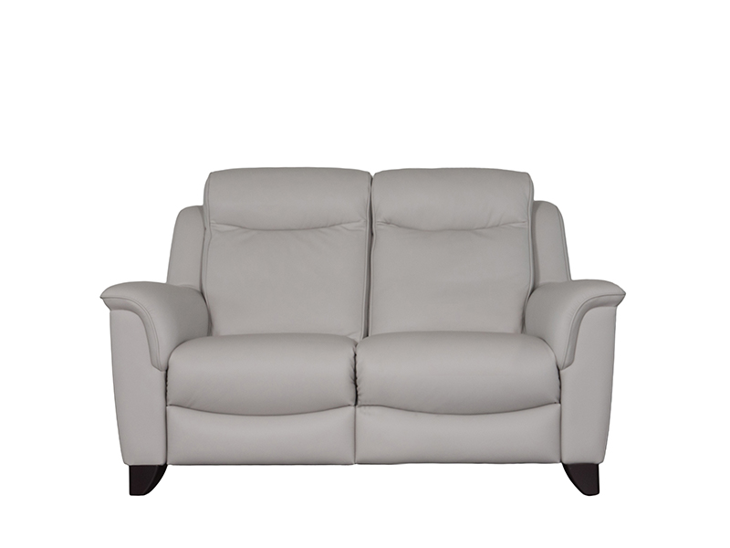 Manhattan 2 Seat Double Recline Leather Sofa with Single Motor