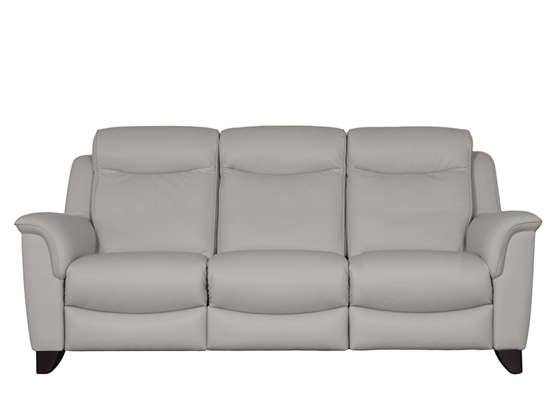 Manhattan 3 Seat Double Recline Leather Sofa with Single Motor