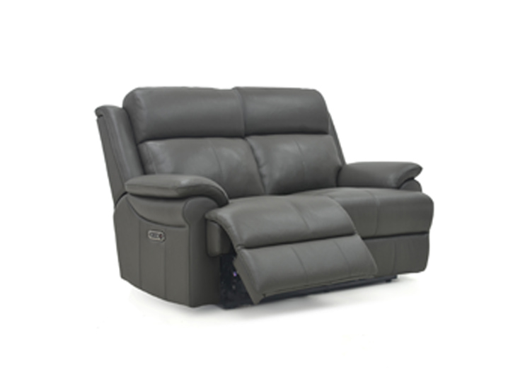 Bacchus 2 Seat Leather Power Recliner With USB