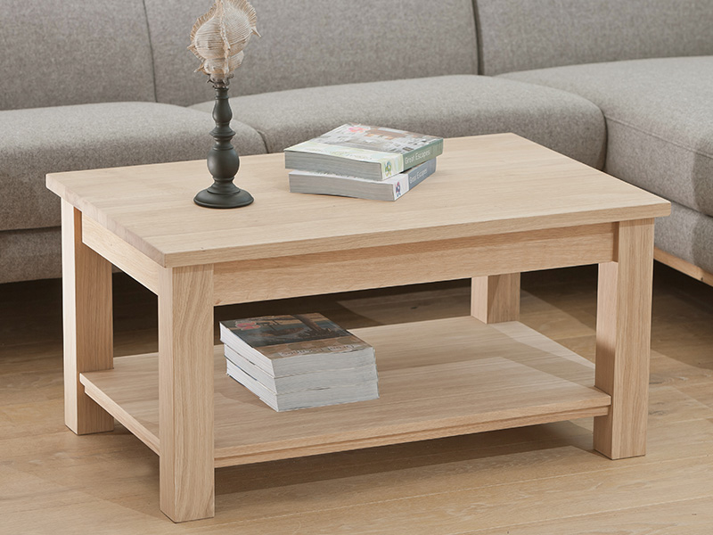 Quercia Coffee Table with Shelf
