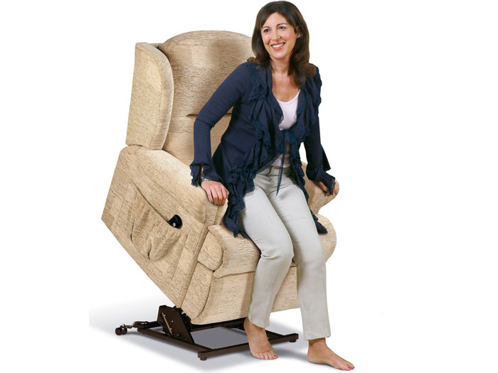 Malvern Small Single Motor Lift and Rise Fabric Recliner