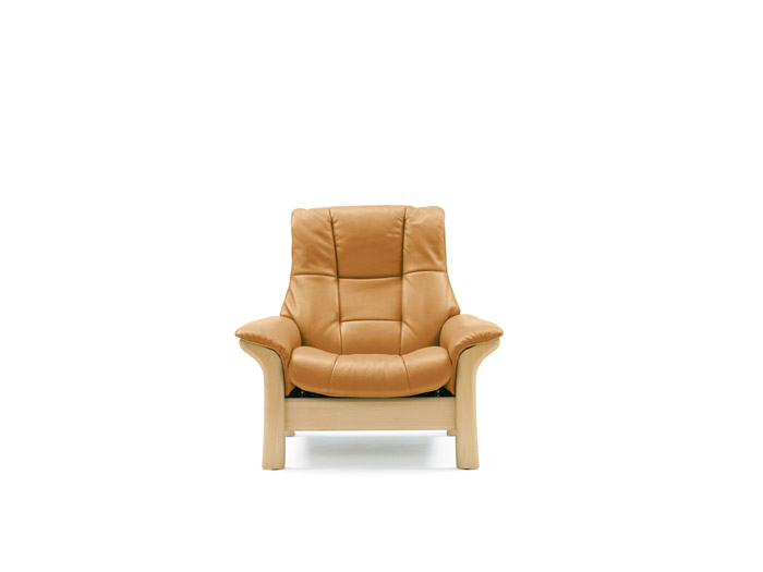 Buckingham Chair High Back in Batick Leather