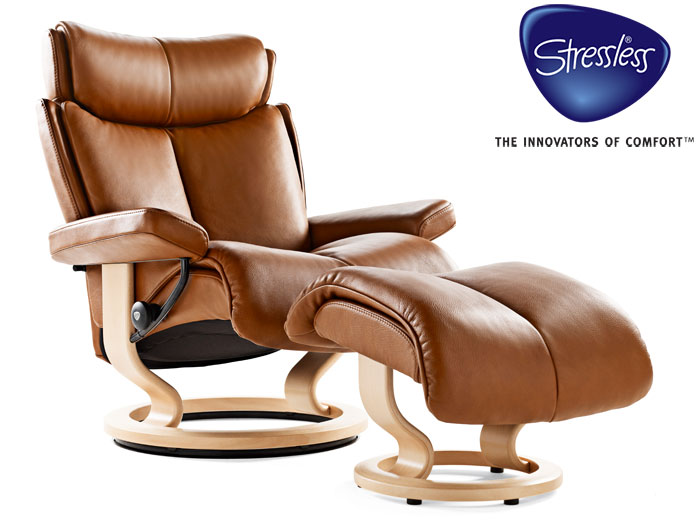 Magic Large Recliner in Paloma Leather