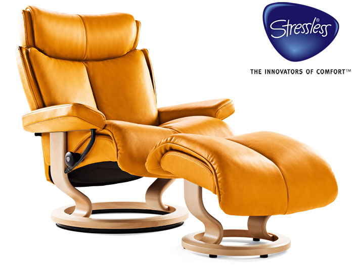 Magic Small Recliner in Paloma Leather