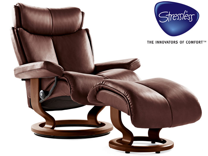 Magic Large Recliner in Noblesse Leather