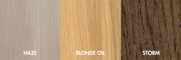Colour Haze Blonde Oil and Storm Wood finish